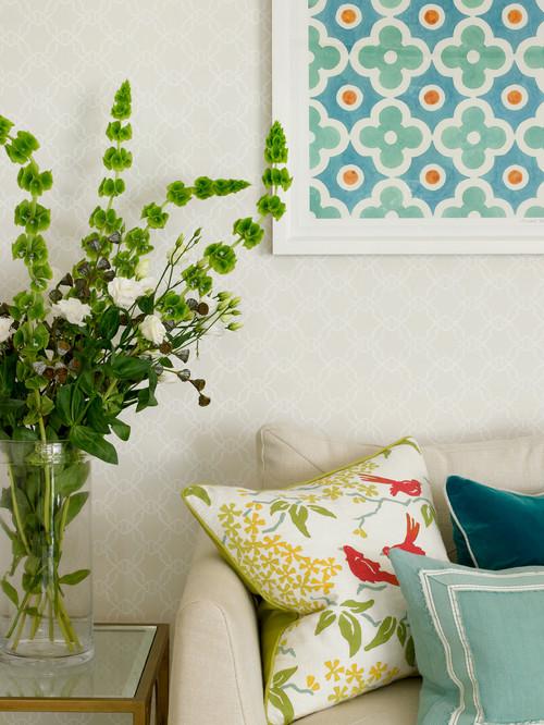 Green Spring in living room