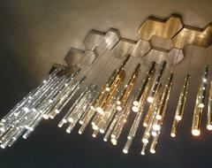 Rain 7 Clouds Chandelier (70 drops) modern-chandeliers