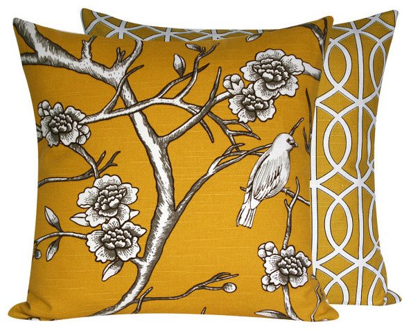 "Autumn Light 18"" Decorative Pillow l Chloe and Olive traditional-decorative-pillows"