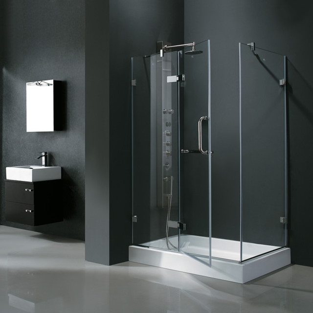 32 X 48 Frameless Rectangular Shower Enclosure