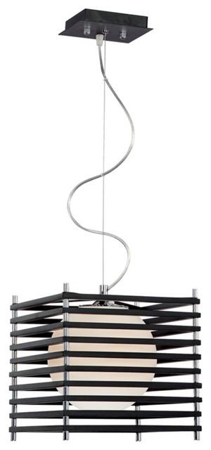 "Possini Euro Black Parallel Square 10 1/4"" Wide Chandelier contemporary-chandeliers"