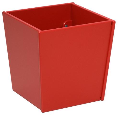 Loll designs apple red taper square bin and planter for Loll planters