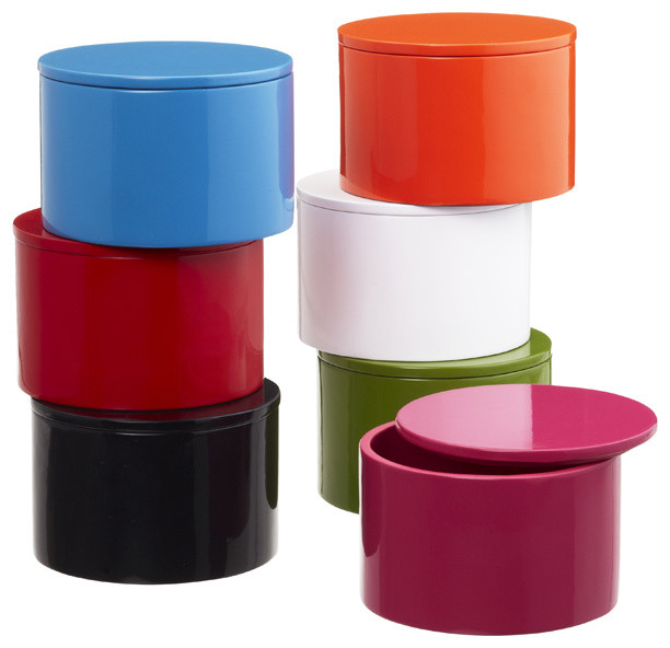 Round Lacquered Box modern-storage-bins-and-boxes