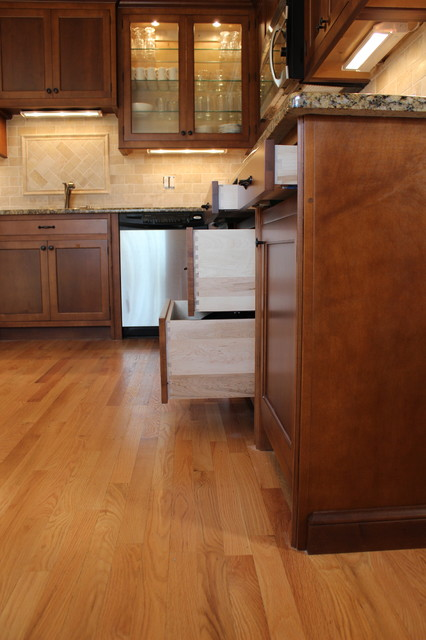 Small to medium size kitchen done on a tight budget. contemporary