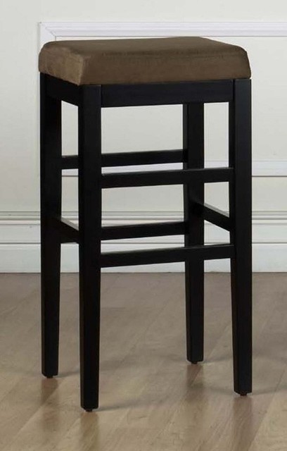 "Armen Living - Sonata 26"" Bar Stool in Brown Micro Fiber (Set of 2) - LCSTBAMFBR contemporary-bar-stools-and-counter-stools"