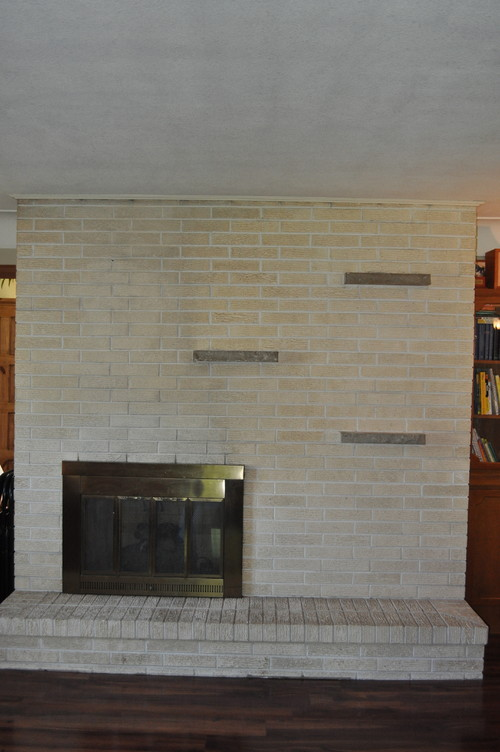 Need Ideas On How To Update Our Brick Fireplace