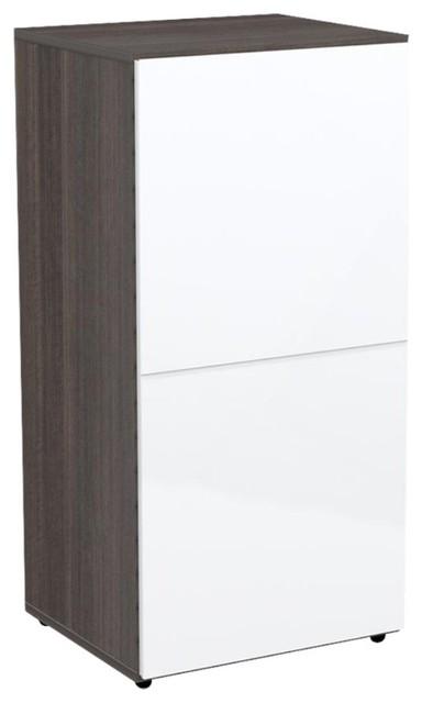 Nexera Allure 36 in. Storage Cabinet with Door modern-storage-cabinets