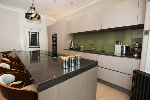 Cashmere Handleless Kitchen Modern Other Metro By LWK Kitchens London