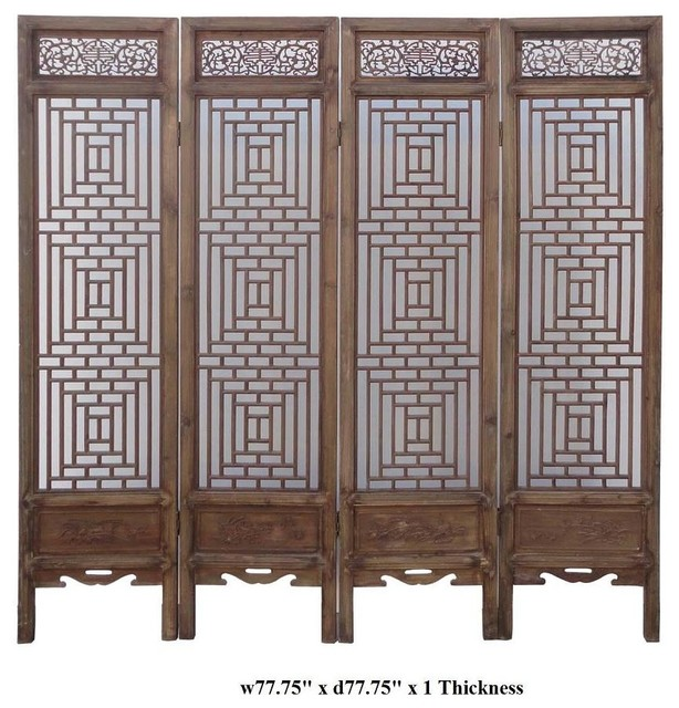 Http Www Houzz Com Photos 8024852 Vintage Chinese Two Sided Four Season Motif Wooden Room Divider Asian Screens And Wall Dividers San Francisco