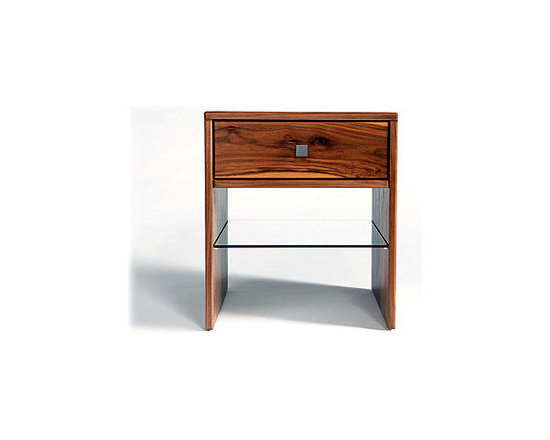 Touch Side Table - Our Touch family of designs emphasizes the beauty of solid wood through the striking grain patterning on the surfaces and the finger-joint detailing on the edges. This side table features a spacious drawer for concealed storage and an additional shelf.