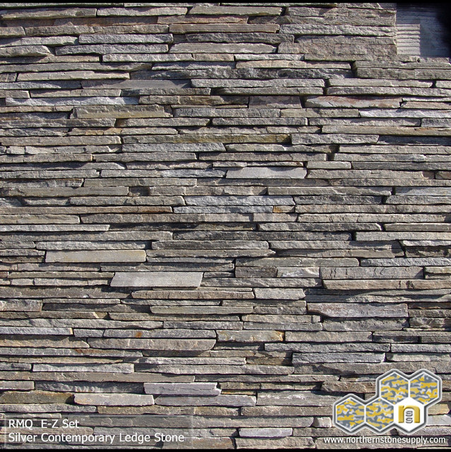 Silver Contemporary Ledge Stone Stacked Stone Veneer Modern Siding And Stone Veneer By
