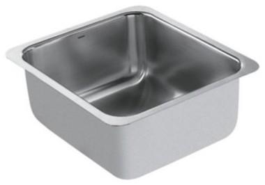 Moen Lancelot S22351 Single Bowl Undermount Stainless Steel Kitchen Sink modern-kitchen-sinks