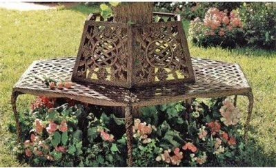Oakland Living Rose Tree Bench traditional-patio-furniture-and-outdoor-furniture