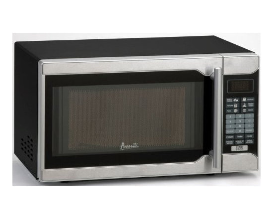 Avanti - 0.7CF 700 W Microwave Bk SS Oven Broiler - Avanti 0.7 Cu Ft Microwave with 700 Watts of Cooking Power