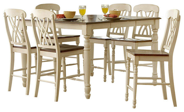 Homelegance Ohana 7 Piece Counter Height Dining Room Set