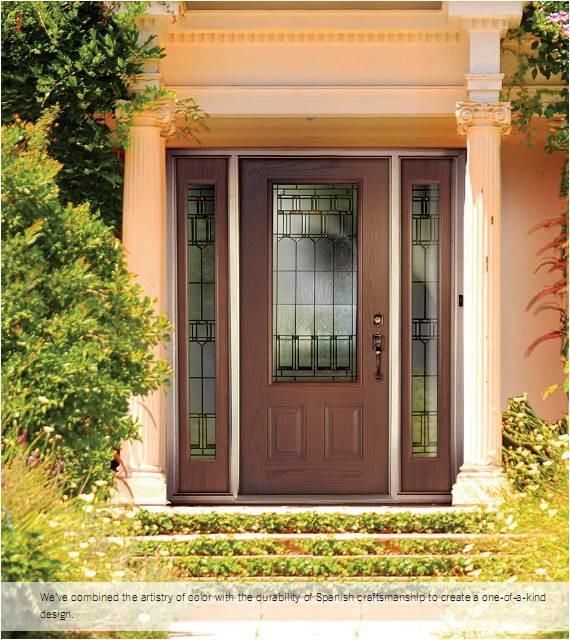 Woodgrain Fiberglass Doors contemporary