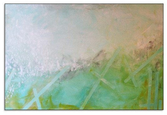 Abstract Seascape Landscape Painting Large Canvas Contemporary/Modern Acrylic contemporary-paintings
