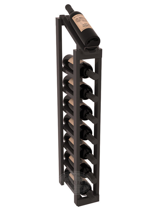 Wine Racks America - 1 Column 8 Row Display Top Kit in Pine, Black Stain + Satin Finish - Make your best vintage the focal point of your cellar or store. The slim design is a perfect fit for almost any space. Our wine cellar kits are constructed to industry-leading standards. You'll be satisfied. We guarantee it. Display top wine racks are perfect for commercial or residential environments.
