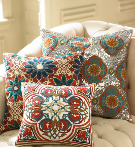 Jamie Young Embroidered Pillows