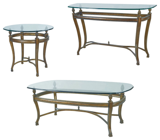 Hammary Suffolk Bay Rectangular Cocktail Table Set Traditional Coffee Table Sets By Beyond