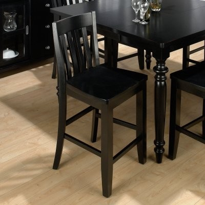 Jofran New Barn Black Counter Height Chair - 2 Chairs modern-dining-chairs