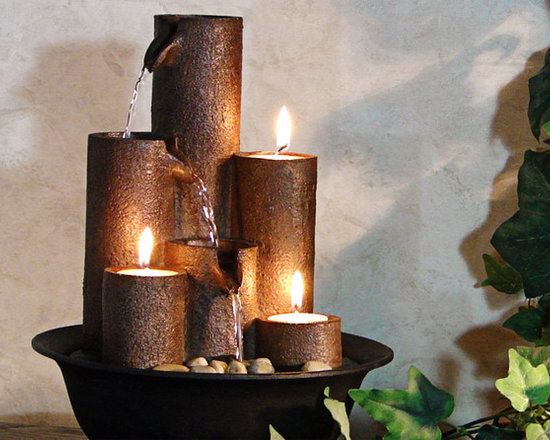 Three Candles Tabletop Fountain -