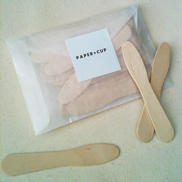 Wooden Ice Cream Spoons contemporary flatware