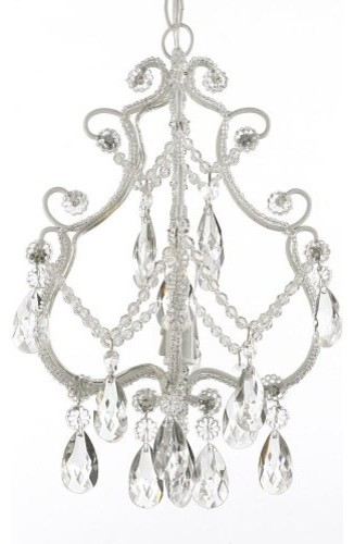 Wrought Iron Crystal chandelier Single Light traditional-chandeliers