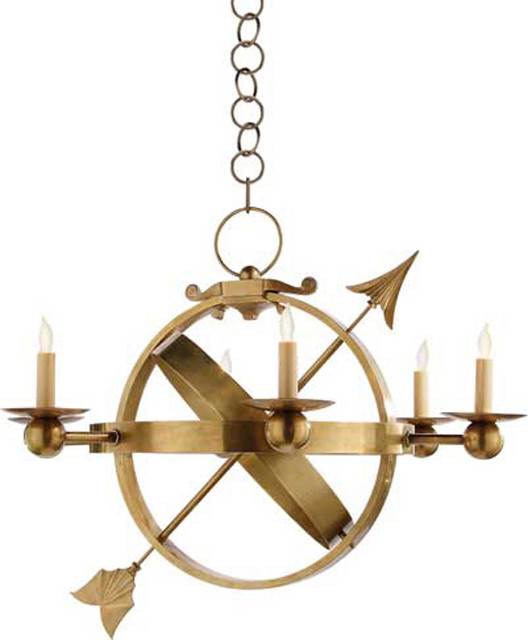 Currey And Company Balthazar: Armillary Sphere Chandelier