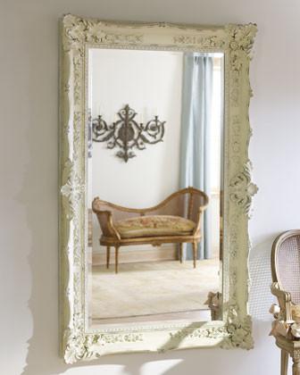 """Antique White"" Mirror traditional-mirrors"