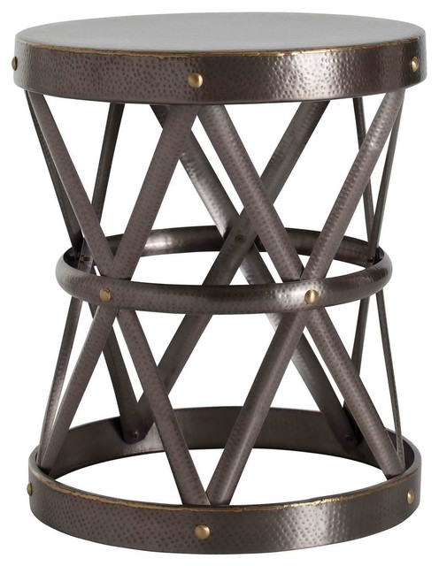 Arteriors Costello Brass Side Table modern-dining-tables