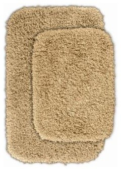 "Bath Mat: Serendipity Linen 21"" x 34"" Bathroom 2 -Piece Rug Set contemporary-bath-mats"
