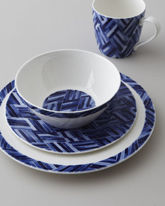 "... Somerset Island Woven"" Dinnerware Place Setting traditional-dinnerware"