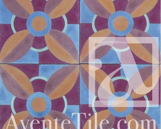 "Geometric Geo 21-A2 Cement tile 8"" x 8"" -"