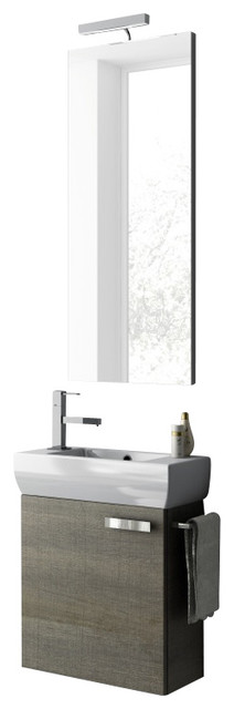 18 Inch Utility Sink With Cabinet : 18 Inch Grey Oak Bathroom Vanity Set contemporary bathroom vanities ...