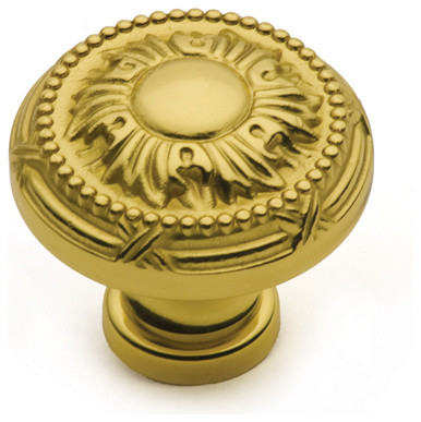 K580-PB polished brass round cabinet knob traditional-cabinet-and-drawer-knobs