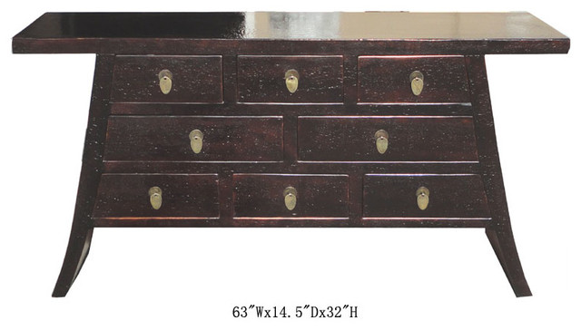 Chinese Multiple Drawers Console Buffet Table Side Cabinet contemporary-buffets-and-sideboards