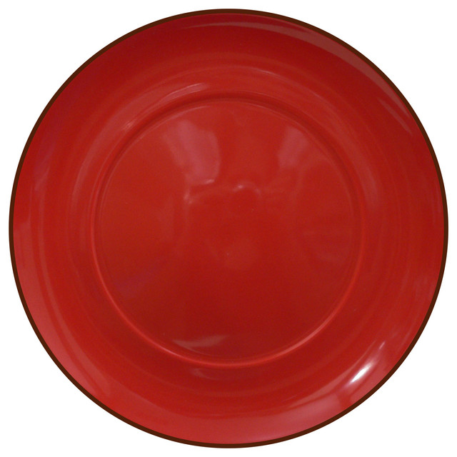 Duo Set of 4 Dinner Plates Duo Chili modern-dinner-plates