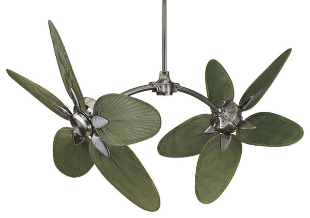 Fanimation FP7000PW Pewter Caruso Tropical / Safari Ten Bladed Indoor contemporary-ceiling-fans