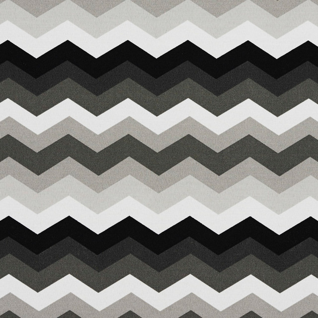 Black Grey And White Chevron Outdoor Indoor Upholstery