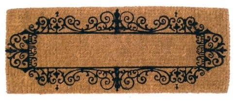 Imports Unlimited Wrought Iron Border 18 x 47 Extra Thick Hand Woven Coir Doorma traditional-doormats