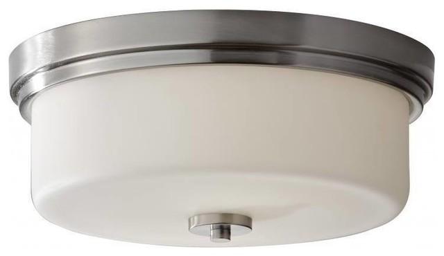 Kincaid 3 light flush mount contemporary bathroom for Bathroom flush mount lighting