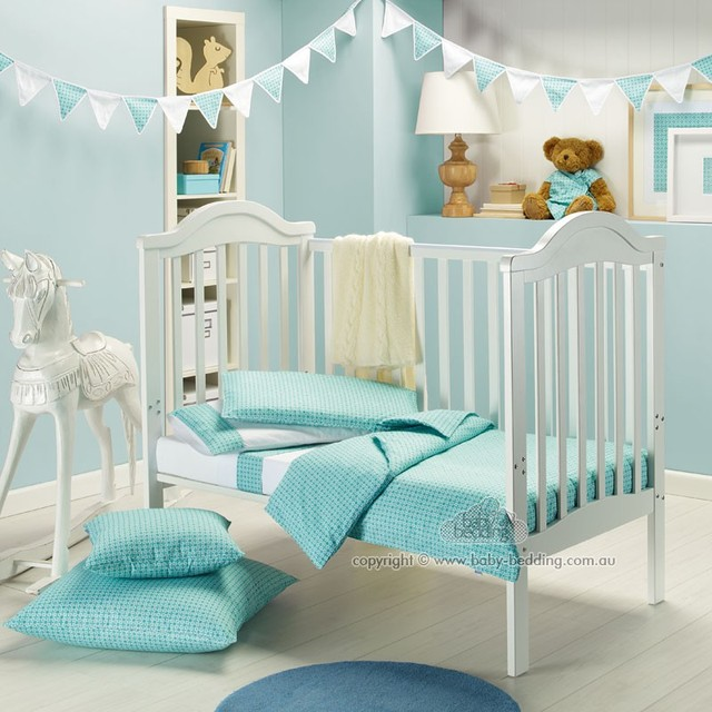 Cot In A Box, Morocco Turquoise contemporary kids bedding