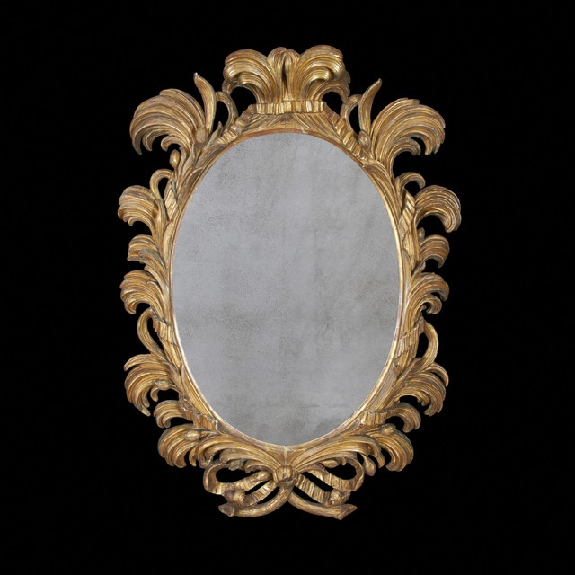 William IV Carved Gilt Wood Oval Mirror traditional-wall-mirrors
