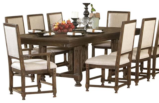 Homelegance ardenwood 10 piece leg table dining room set for 10 piece dining room table sets