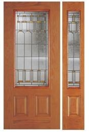 Woodgrain Fiberglass Doors contemporary-front-doors