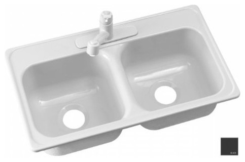 """Kitchen Sink, Manufactured/Mobile Home Acrylic 9"""" Deep, Single Faucet modern-kitchen-sinks"""