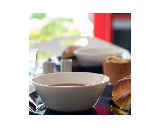 Teema Dinnerware Soup Bowl White - Iittala's Teema dinnerware white soup bowl. Photos by Fitzsu Society