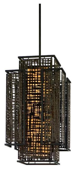 Corbett Lighting Shoji Bonsai Bronze 4Lt Pendant Entry-Large traditional-pendant-lighting