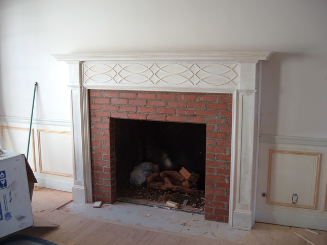 Traditional Fireplace Mantels Transitional Indoor